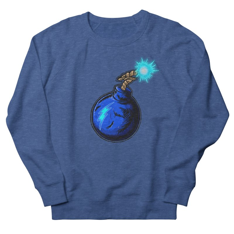 Bomb of Blue Thunder Women's French Terry Sweatshirt by inbrightestday's Artist Shop