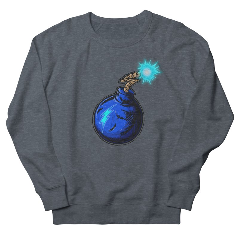 Bomb of Blue Thunder Men's French Terry Sweatshirt by inbrightestday's Artist Shop
