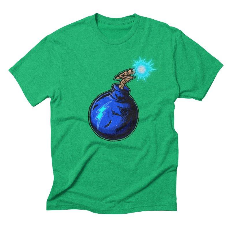 Bomb of Blue Thunder Men's Triblend T-Shirt by inbrightestday's Artist Shop