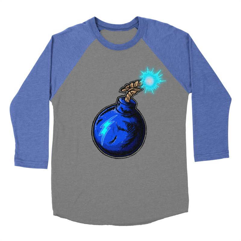 Bomb of Blue Thunder Men's Baseball Triblend Longsleeve T-Shirt by inbrightestday's Artist Shop