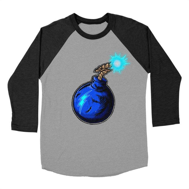 Bomb of Blue Thunder Men's Baseball Triblend Longsleeve T-Shirt by inbrightestday's Artist Shop