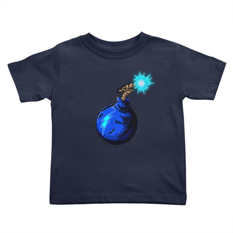 Bomb of Blue Thunder Kids Toddler T-Shirt by inbrightestday's Artist Shop