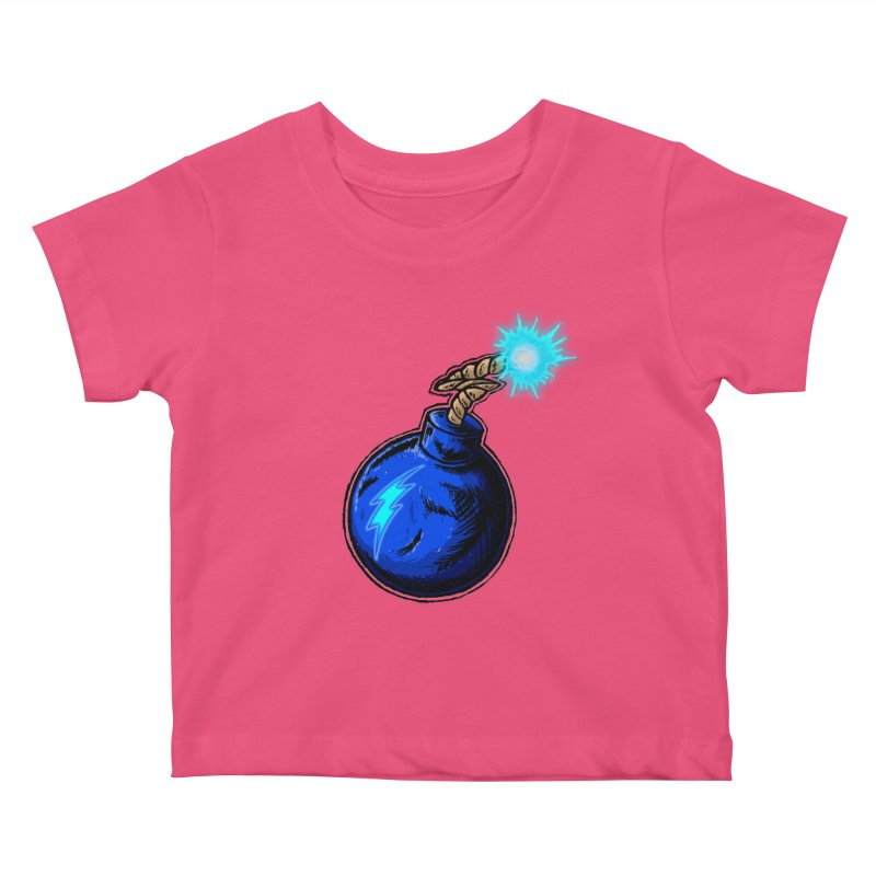 Bomb of Blue Thunder Kids Baby T-Shirt by inbrightestday's Artist Shop