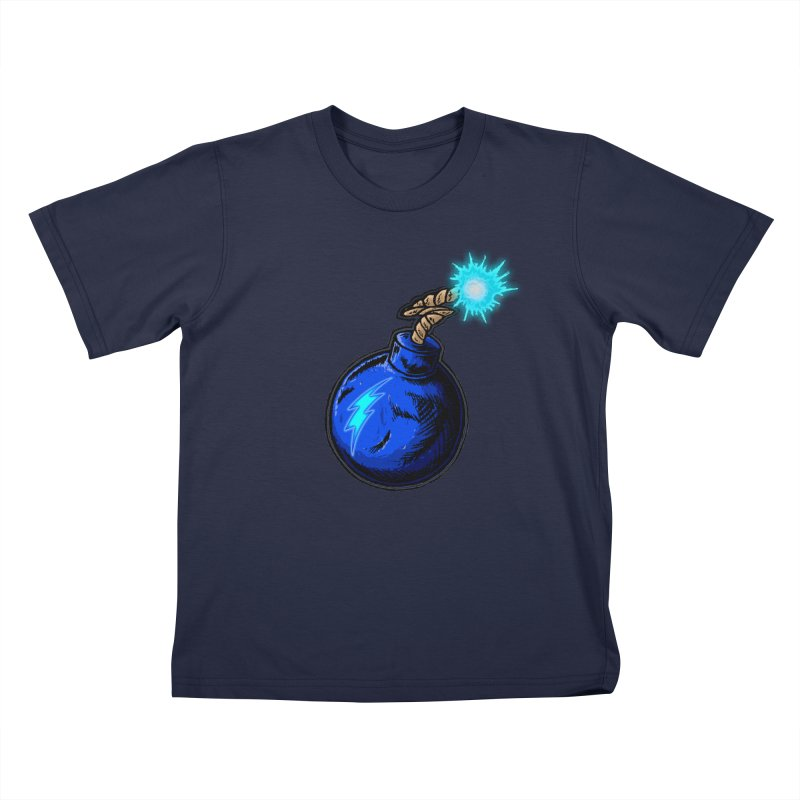 Bomb of Blue Thunder Kids T-Shirt by inbrightestday's Artist Shop