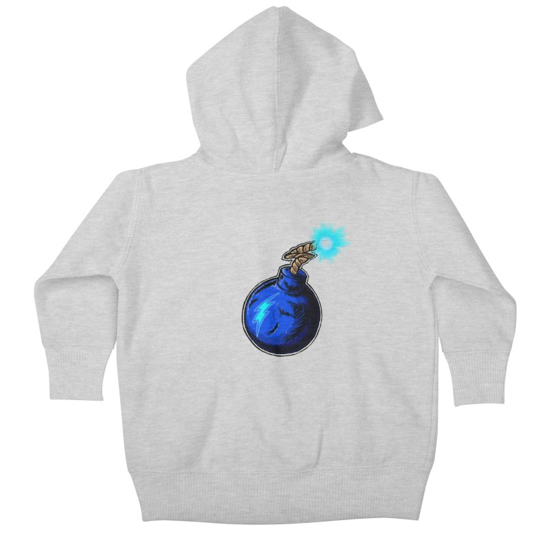 Bomb of Blue Thunder Kids Baby Zip-Up Hoody by inbrightestday's Artist Shop