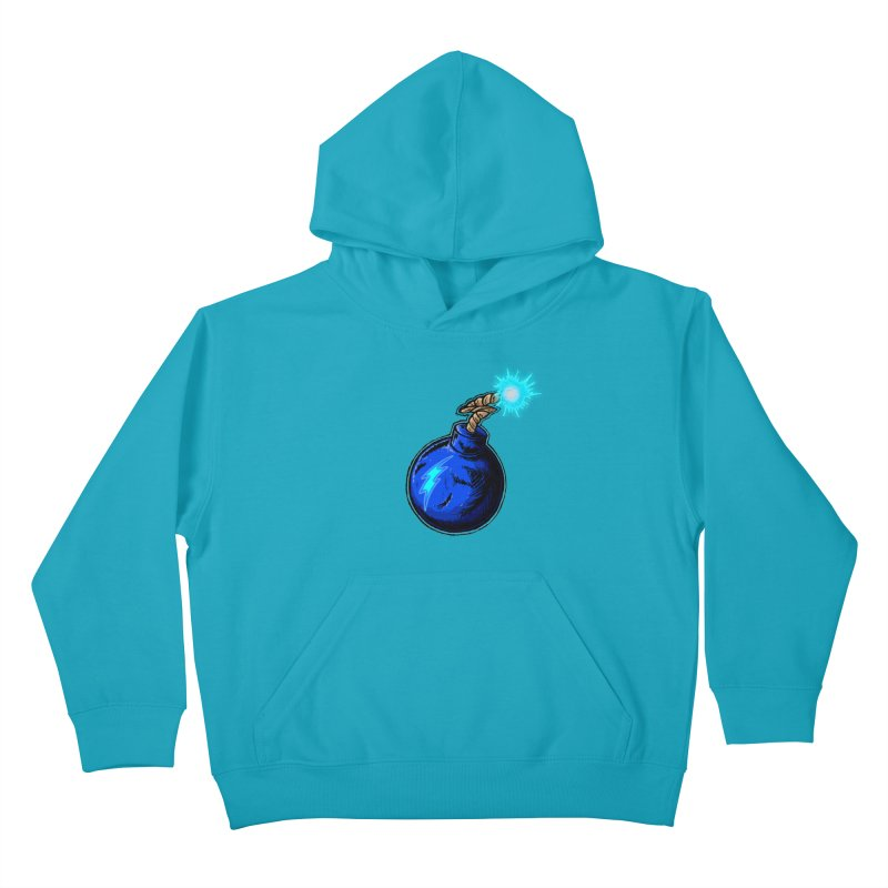 Bomb of Blue Thunder Kids Pullover Hoody by inbrightestday's Artist Shop