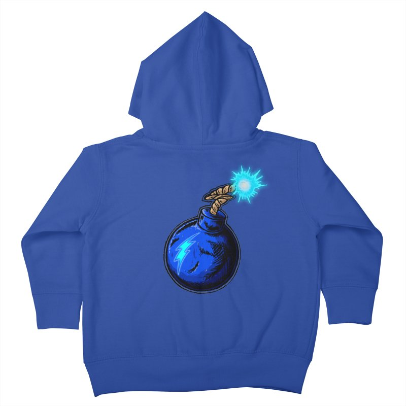 Bomb of Blue Thunder Kids Toddler Zip-Up Hoody by inbrightestday's Artist Shop