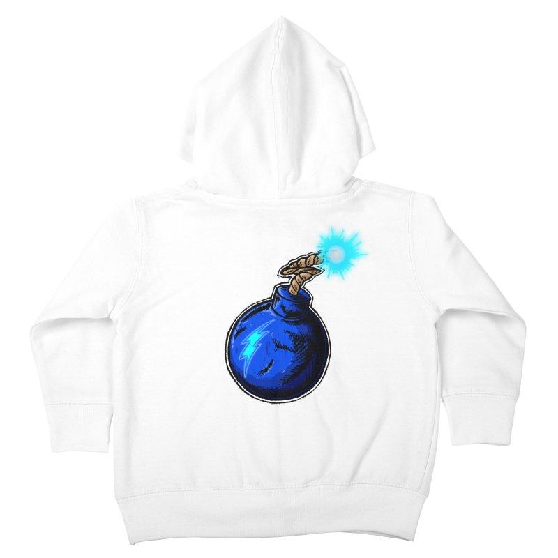 Bomb of Blue Thunder Kids Toddler Zip-Up Hoody by inbrightestday's Artist Shop
