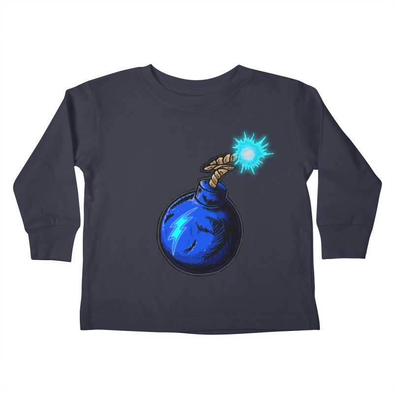 Bomb of Blue Thunder Kids Toddler Longsleeve T-Shirt by inbrightestday's Artist Shop