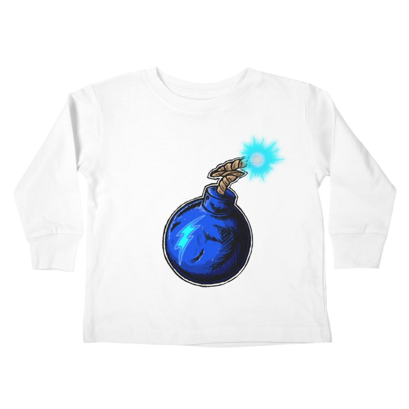 Bomb of Blue Thunder Kids Toddler Longsleeve T-Shirt by inbrightestday's Artist Shop