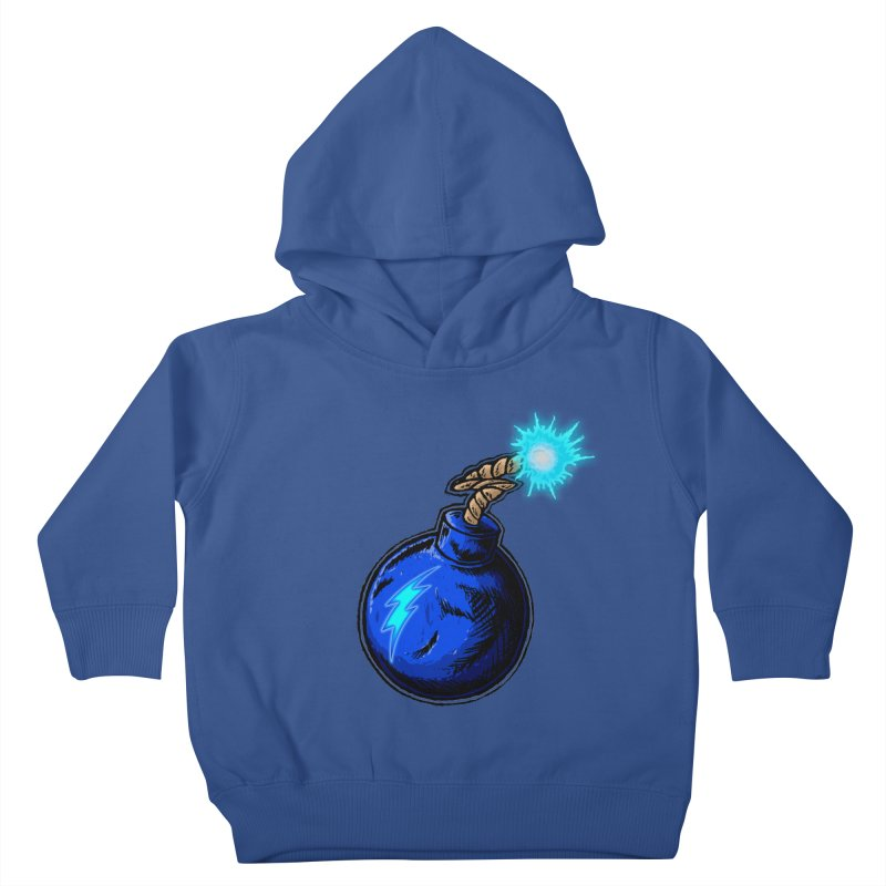 Bomb of Blue Thunder Kids Toddler Pullover Hoody by inbrightestday's Artist Shop