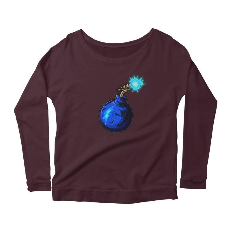 Bomb of Blue Thunder Women's Scoop Neck Longsleeve T-Shirt by inbrightestday's Artist Shop