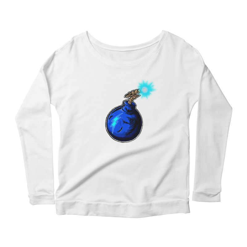 Bomb of Blue Thunder Women's Scoop Neck Longsleeve T-Shirt by inbrightestday's Artist Shop