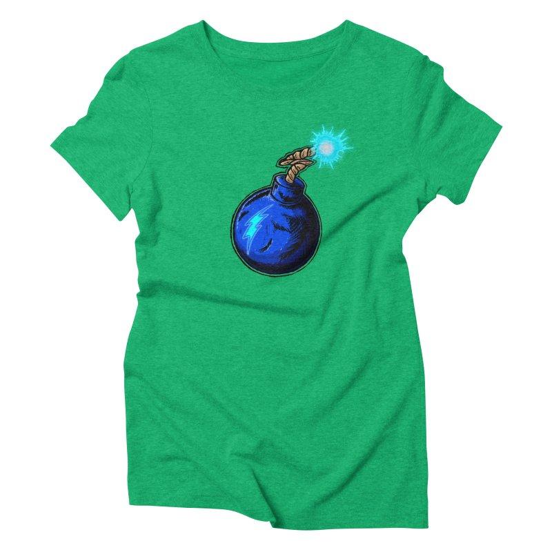 Bomb of Blue Thunder Women's Triblend T-Shirt by inbrightestday's Artist Shop