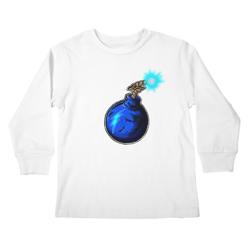 Bomb of Blue Thunder Kids Longsleeve T-Shirt by inbrightestday's Artist Shop