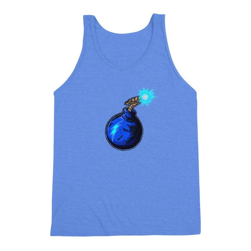 Bomb of Blue Thunder Men's Triblend Tank by inbrightestday's Artist Shop