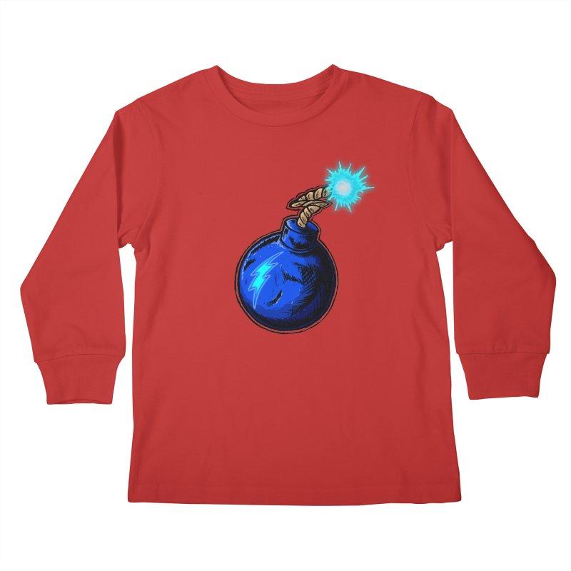 Bomb of Blue Thunder Kids Longsleeve T-Shirt by inbrightestday's Artist Shop