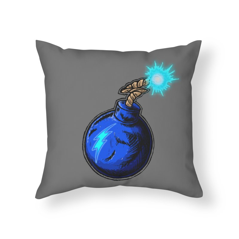 Bomb of Blue Thunder Home Throw Pillow by inbrightestday's Artist Shop