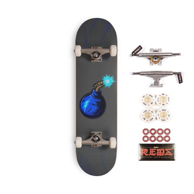 Bomb of Blue Thunder Accessories Complete - Pro Skateboard by inbrightestday's Artist Shop