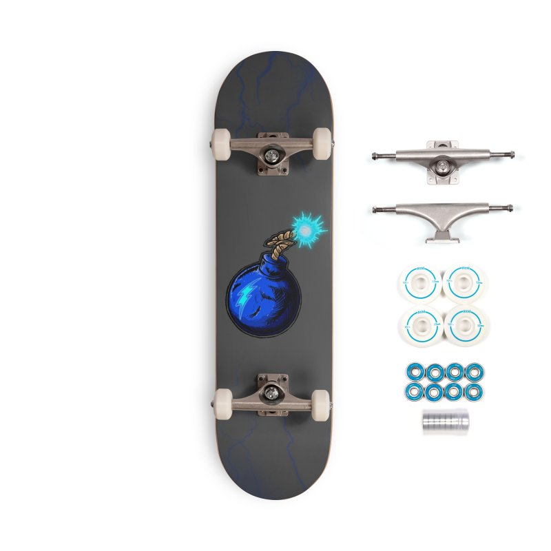 Bomb of Blue Thunder Accessories Complete - Basic Skateboard by inbrightestday's Artist Shop