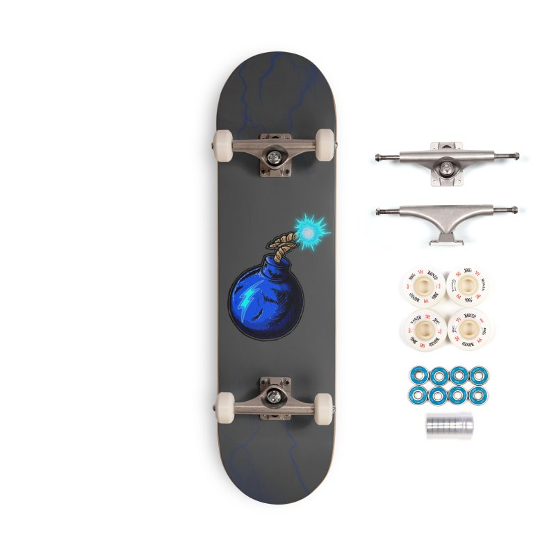 Bomb of Blue Thunder Accessories Complete - Premium Skateboard by inbrightestday's Artist Shop