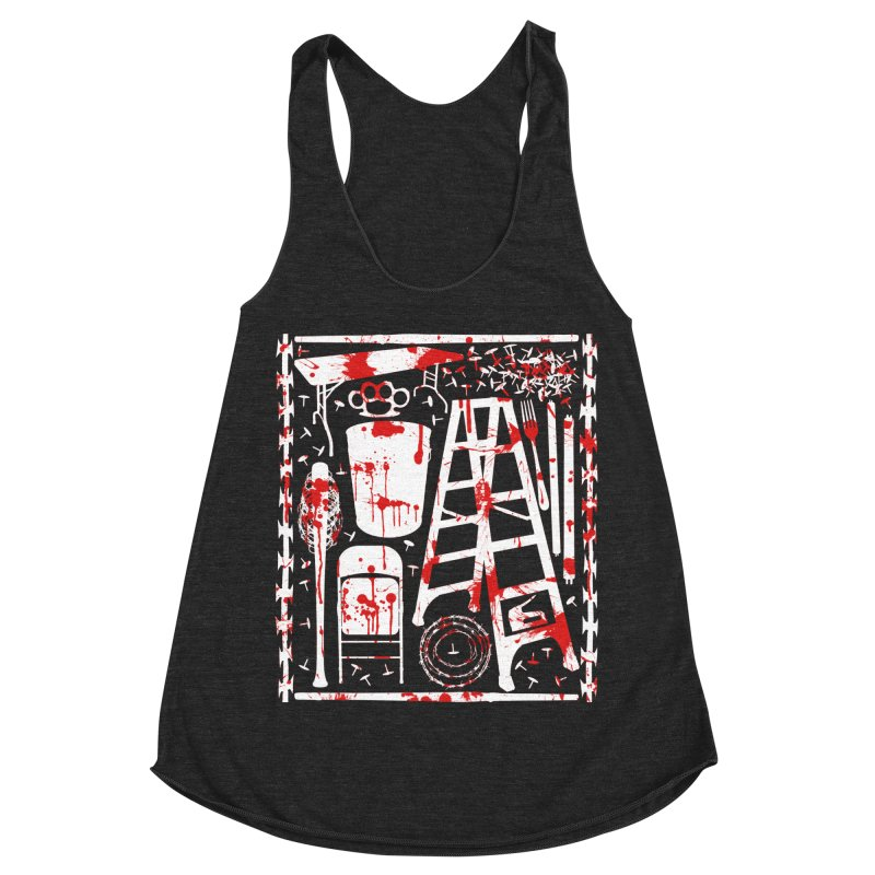 Choose your weapon 2 Women's Racerback Triblend Tank by inbrightestday's Artist Shop