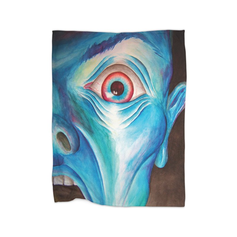 Shock and Awe Home Fleece Blanket by inbrightestday's Artist Shop