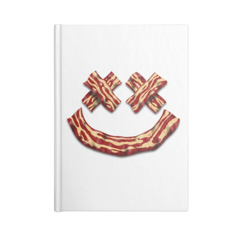 Death by Bacon Accessories Lined Journal Notebook by inbrightestday's Artist Shop