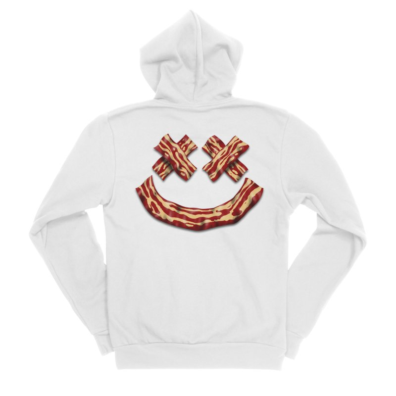 Death by Bacon Men's Sponge Fleece Zip-Up Hoody by inbrightestday's Artist Shop