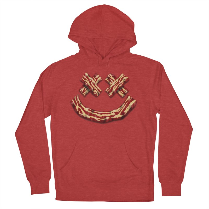 Death by Bacon Men's French Terry Pullover Hoody by inbrightestday's Artist Shop