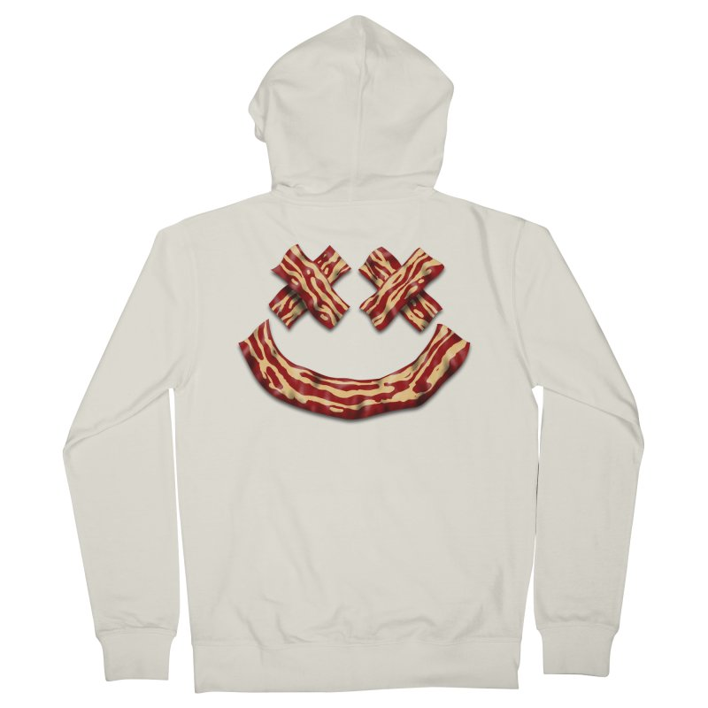 Death by Bacon Men's French Terry Zip-Up Hoody by inbrightestday's Artist Shop