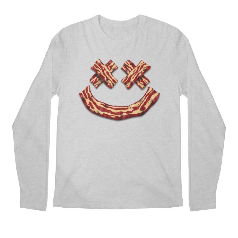Death by Bacon Men's Regular Longsleeve T-Shirt by inbrightestday's Artist Shop