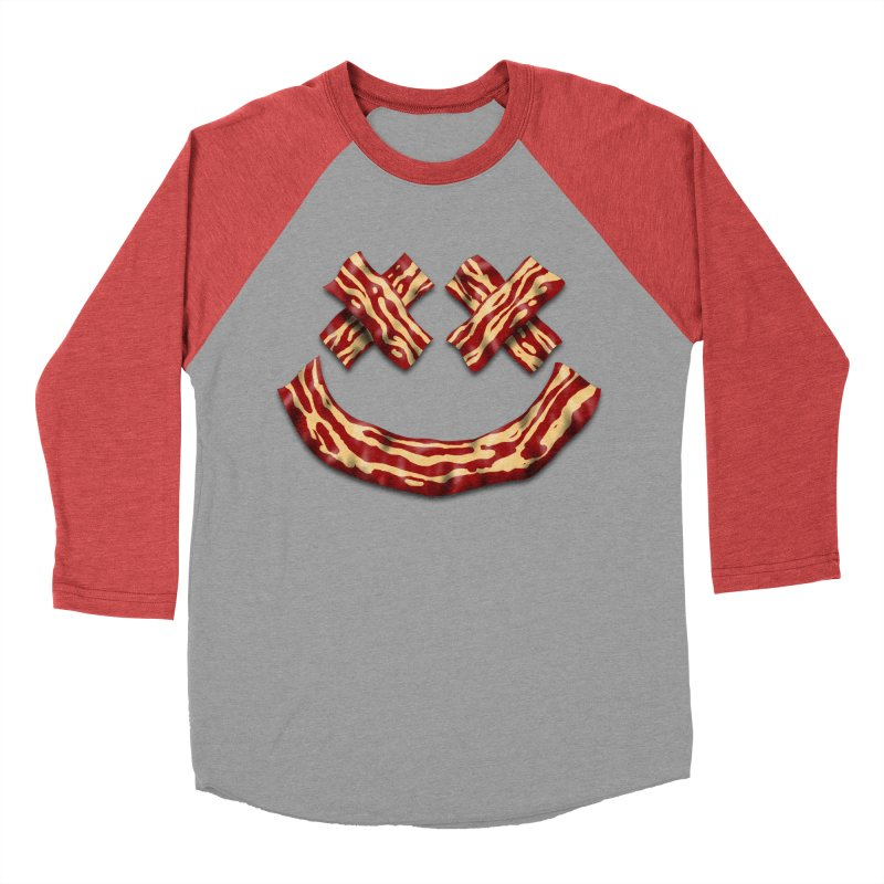 Death by Bacon Women's Baseball Triblend Longsleeve T-Shirt by inbrightestday's Artist Shop