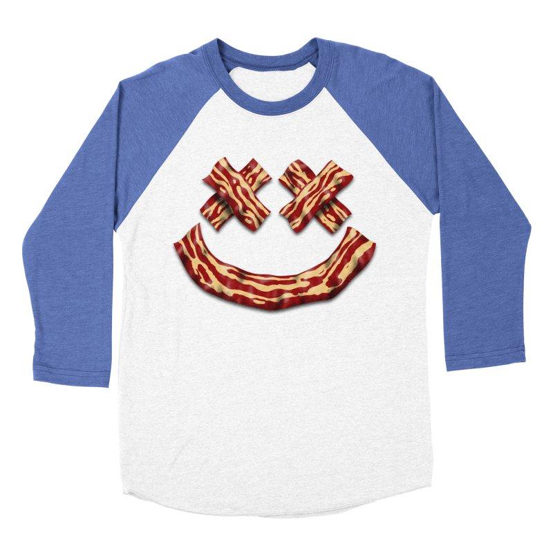 Death by Bacon Men's Baseball Triblend Longsleeve T-Shirt by inbrightestday's Artist Shop