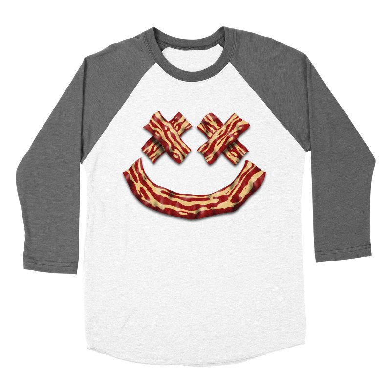 Death by Bacon Men's Baseball Triblend Longsleeve T-Shirt by inbrightestday's Artist Shop