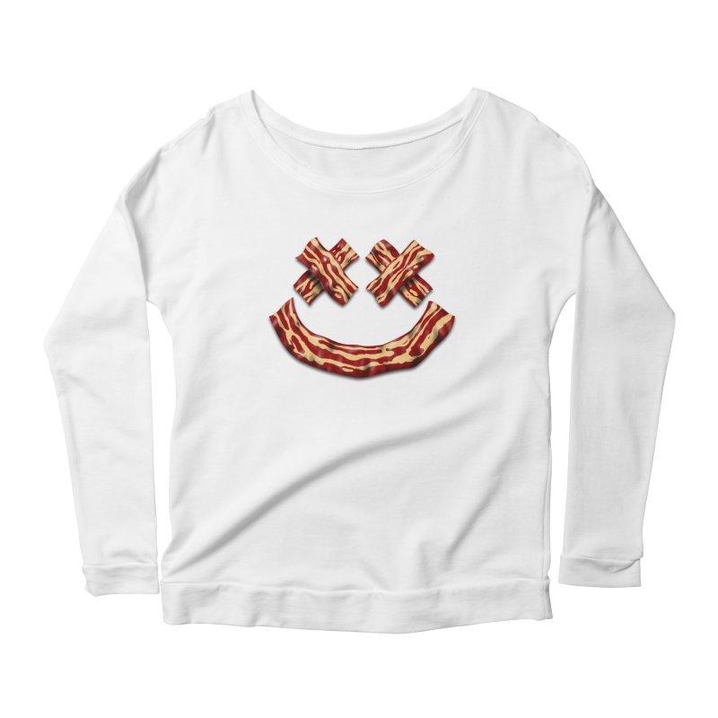 Death by Bacon Women's Scoop Neck Longsleeve T-Shirt by inbrightestday's Artist Shop
