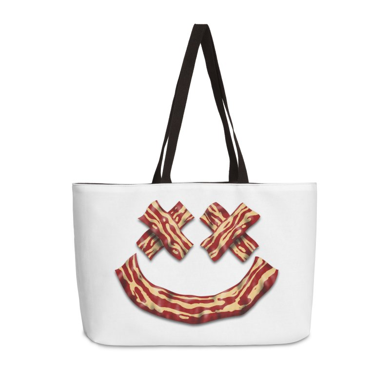 Death by Bacon Accessories Bag by inbrightestday's Artist Shop