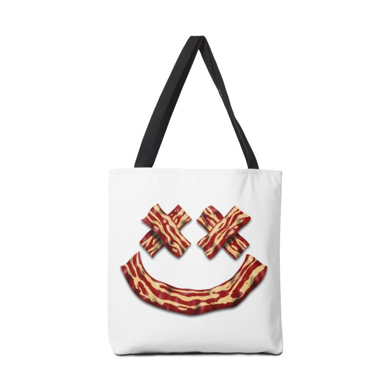 Death by Bacon Accessories Tote Bag Bag by inbrightestday's Artist Shop