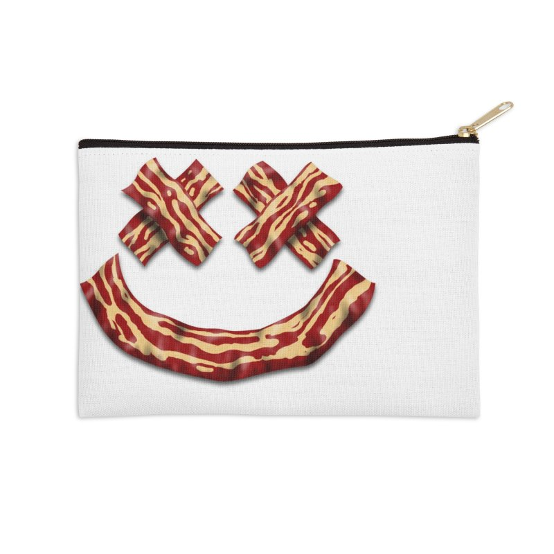 Death by Bacon Accessories Zip Pouch by inbrightestday's Artist Shop