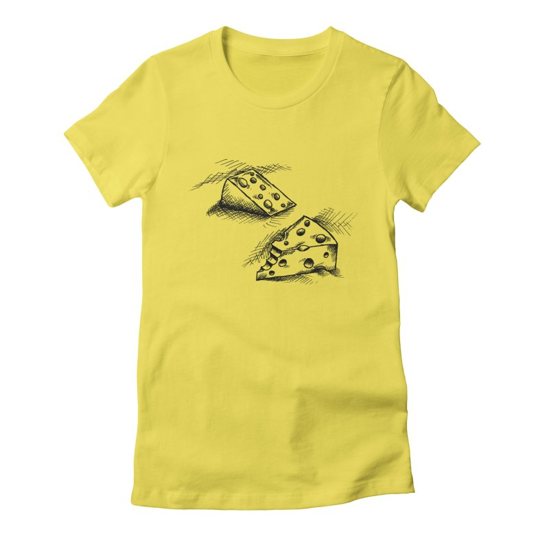 Cheese Doodles Women's Fitted T-Shirt by inbrightestday's Artist Shop