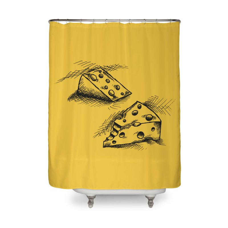 Cheese Doodles Home Shower Curtain by inbrightestday's Artist Shop