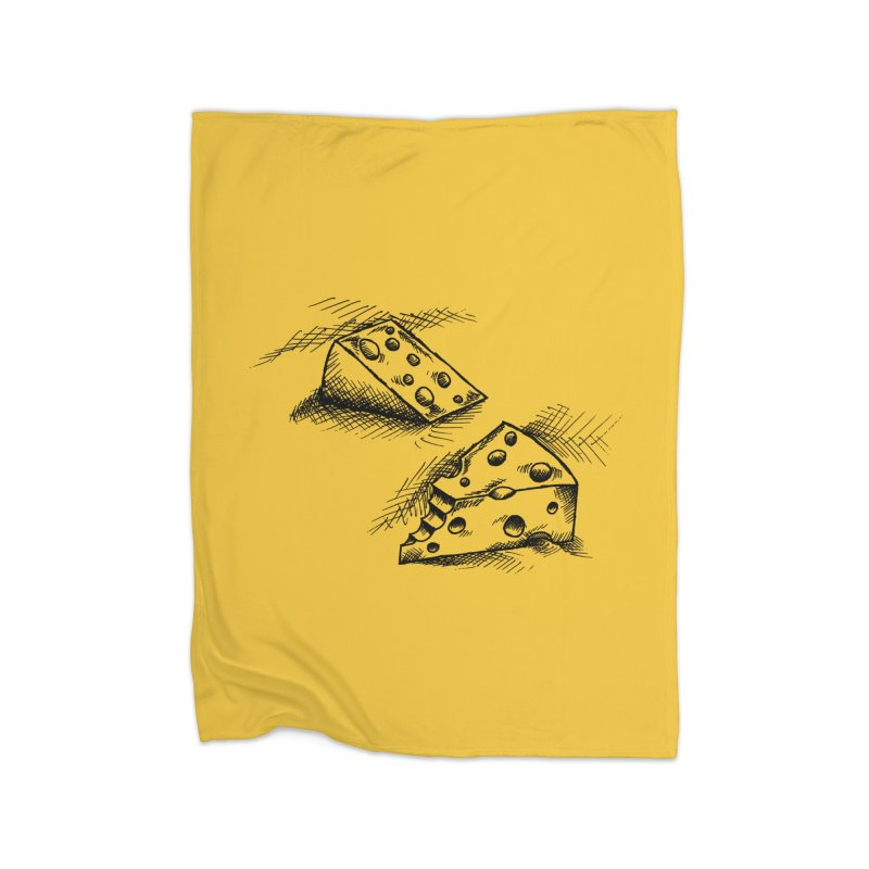 Cheese Doodles Home Fleece Blanket Blanket by inbrightestday's Artist Shop