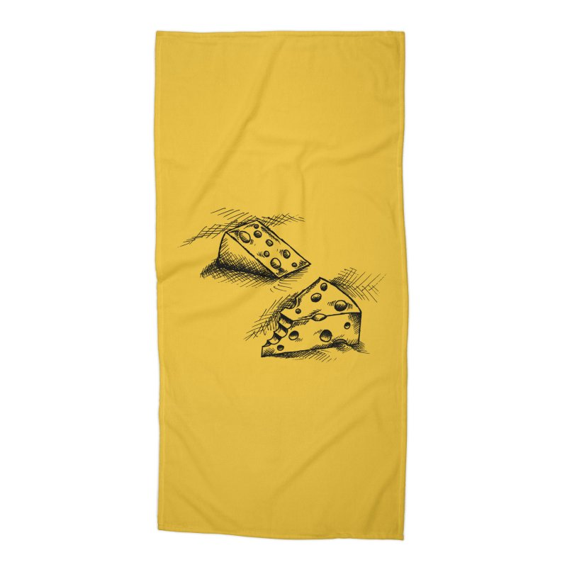 Cheese Doodles Accessories Beach Towel by inbrightestday's Artist Shop