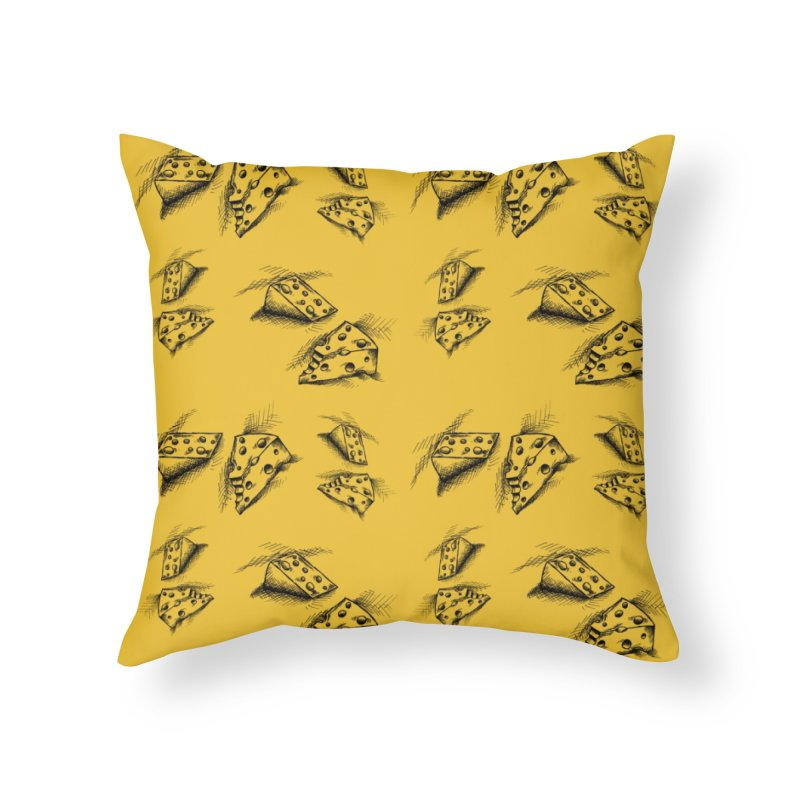Cheese Doodles Home Throw Pillow by inbrightestday's Artist Shop