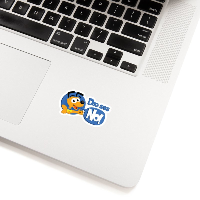 Dog Says No - Logo Accessories Sticker by Incapio Art Store