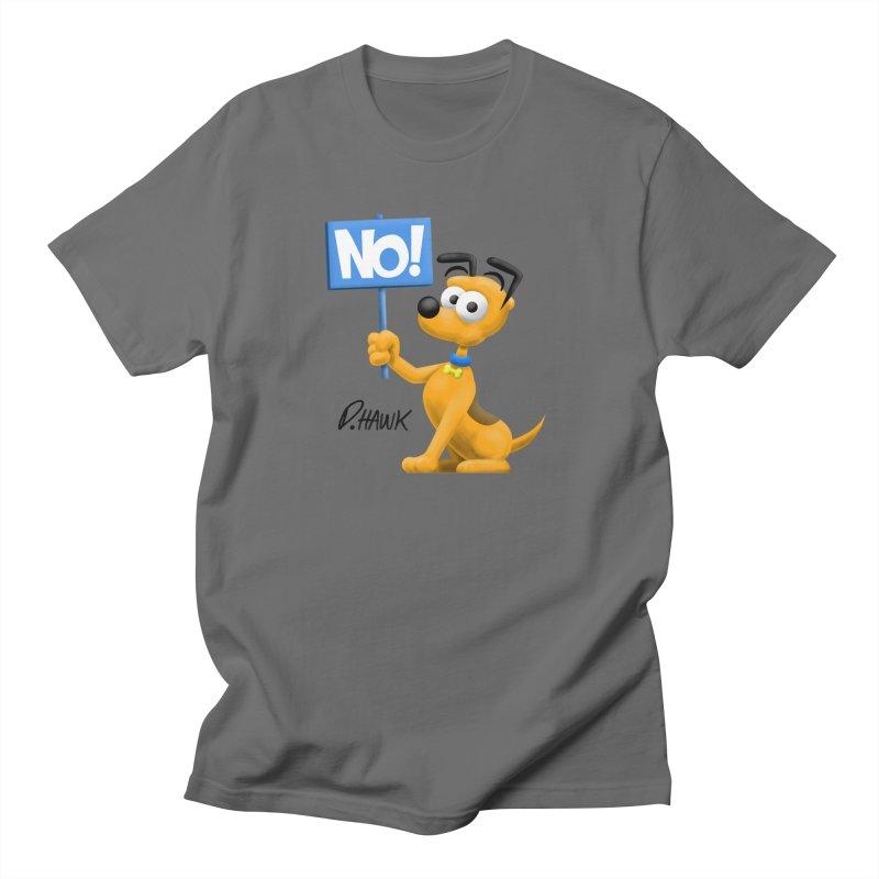 Dog Says No: Sign Men's T-Shirt by Incapio Art Store