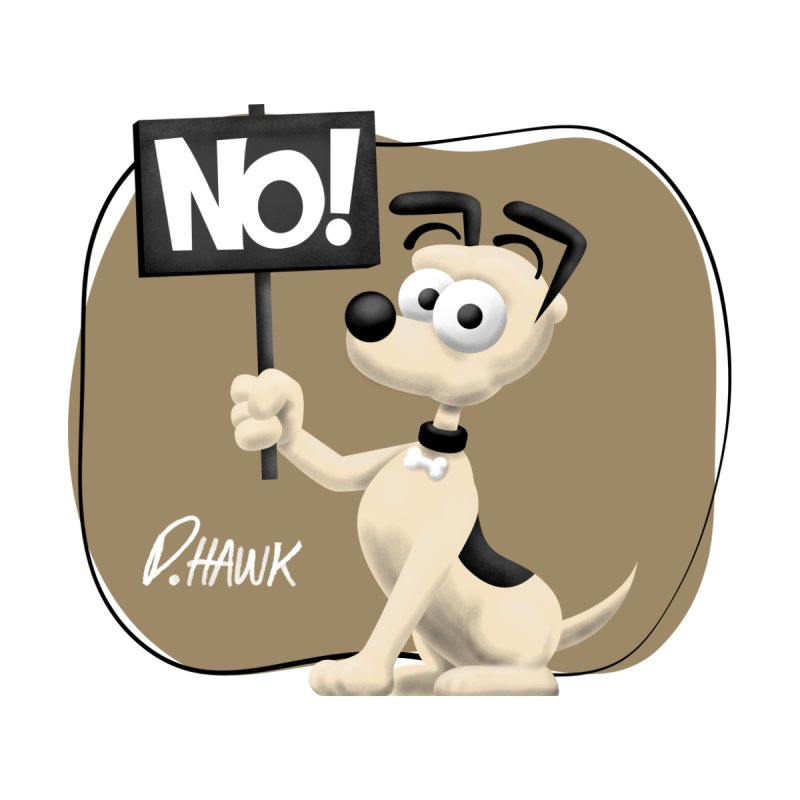 Dog Says No: Sign (Vintage) by Incapio Art Store