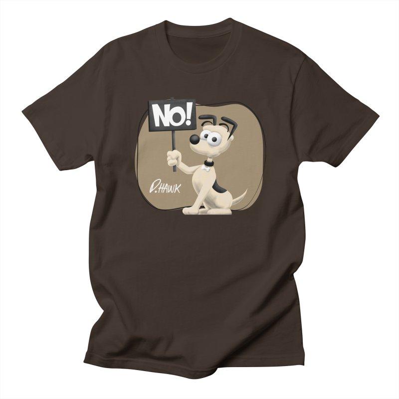 Dog Says No: Sign (Vintage) Men's T-Shirt by Incapio Art Store