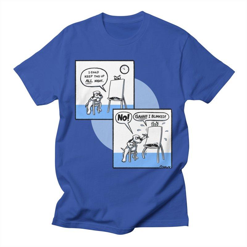 Dog Says No: Creative Block (Blue) Women's T-Shirt by Incapio Art Store