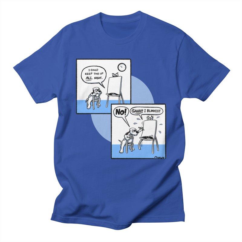 Dog Says No: Creative Block (Blue) Men's T-Shirt by Incapio Art Store